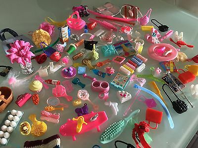 Lot of 125+ accessories for Barbie doll -Great Finds