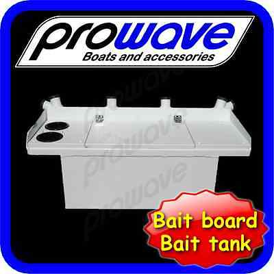 Bait board with live tank and 6 rod holders Large