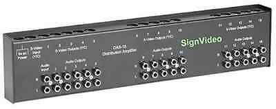 DAS-15, 15 output audio/s-video distribution amplifiers
