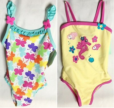NEW Baby Girl BHS Butterfly Seahorse Swimming Costume Swimsuit Age 6-9 Month A14