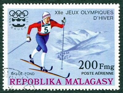 MALAGASY REPUBLIC 1975 200f SG333 used NG Winter Olympic Games Innsbruck #W32