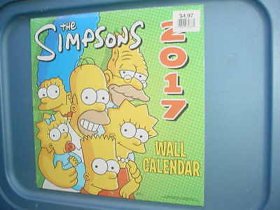 The Simpsons 2017 wall Calendar Sealed