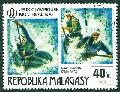 MALAGASY REPUBLIC 1976 40f SG338 used NG Olympic Games Montreal #W32