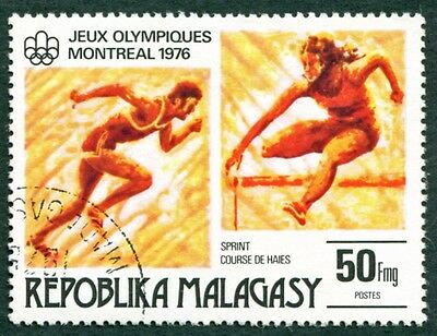 MALAGASY REPUBLIC 1976 50f SG339 used NG Olympic Games Montreal #W32