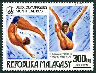 MALAGASY REPUBLIC 1976 300f SG342 used NG Olympic Games Montreal #W32