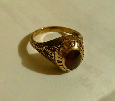 Vintage Class Ring 10K Yellow Gold 6 Grams