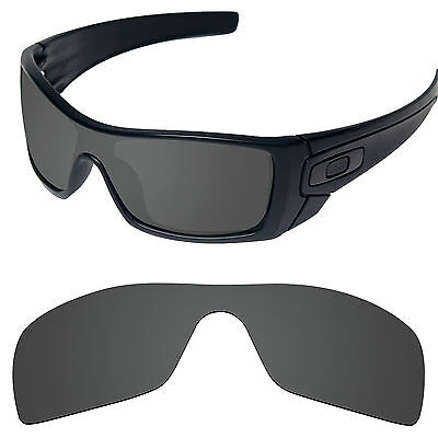 Carbon Black Replacement Lenses for-Oakley Batwolf Polarized by Tintart