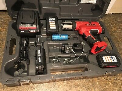 Ridgid Rp 210 Pressframe Tool W/ Accessories In Excelent Condition