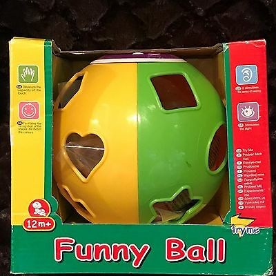 NEW Play and Learn Funny Ball Shape Sorter Cube, Educational Baby Toy 12m+ NEW