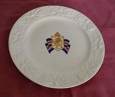 "Vintage Steubenville Bundles For Britain 9"" Collectible plate Porcelain Pristine"