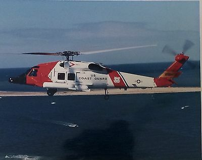 "U.S Coast Guard - MH-60T Helicopter Fly Over - Real Photo - 20"" x 16"""