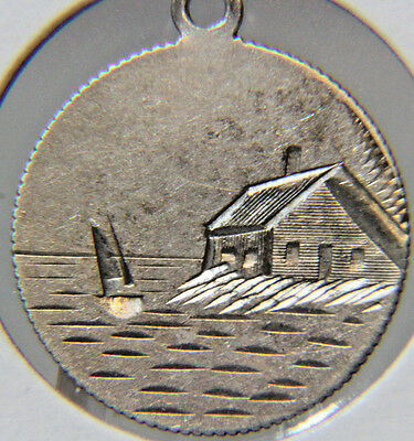 Liberty Seated Dime - Double Sided - LOVE TOKEN - Scenic - Lot # LT 25