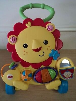 Fisher Price Musical LION WALKER Activity Toddler Baby Development Push Toy