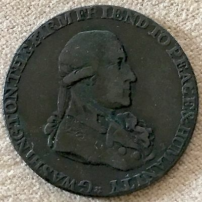 1795 Washington Colonial Half Penny Grate Token Medal Coin