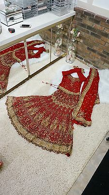 indian wedding lengha Red Gorgeous Hot Item