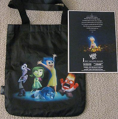 Inside Out Pixar Promo Reversible Tote Bag Plus Fyc For Your Consideration Flyer