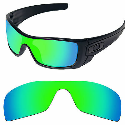 Emerald Green Polarized Replacement Lenses for-Oakley Batwolf  Sunglass Frame