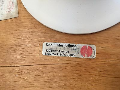 "Mid-century Knoll Saarinen Tulip Walnut End or Side Table 16""  x 20""h eames"