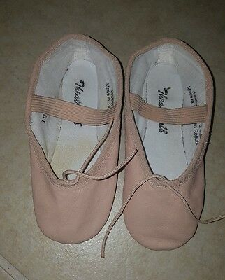 Theatricals girls size 10 M  full sole pink ballet leather dance shoes