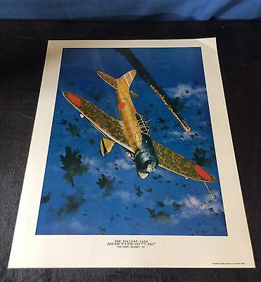 "Ww2 - German Aircraft - Aichi Type Pp ""val"" - Pearl Harbor - T Weddel Lithograph"