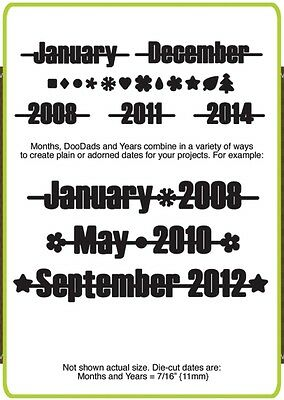 Die-versions - Complements - Make a Date die - for use with most cutting systems