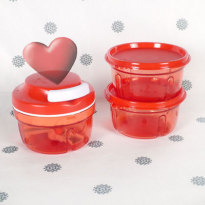 NEW Tupperware Turbo Chef with Twin Turbo Bowls with Seals