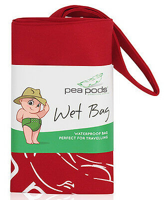 Pea Pods Wet Bag Travel - Red
