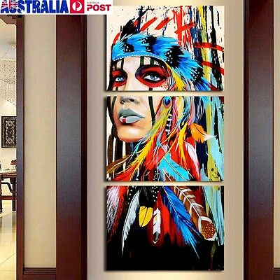 Indian Woman Canvas Painting Modern Abstract Wall Decor Art Printing No Frame