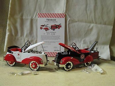 Texaco Die-cast 1940s Pedal Car Wrecker Set Rare Collectible