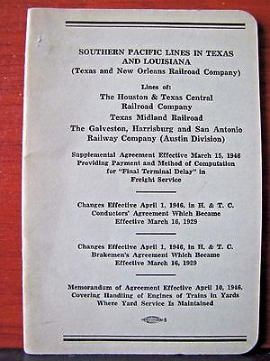 1946 Southern Pacific Lines in Texas and Louisiana - Railroad booklet