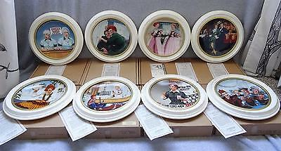 (8) I LOVE LUCY OFFICIAL PLATE SET w/FRAMES COA HAMILTON COLLECTION Lucille Ball