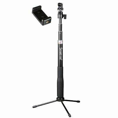 Smatree Selfie Stick with Tripod Stand for GoPro Hero 2018/7/6/5/4,Ricoh Theta