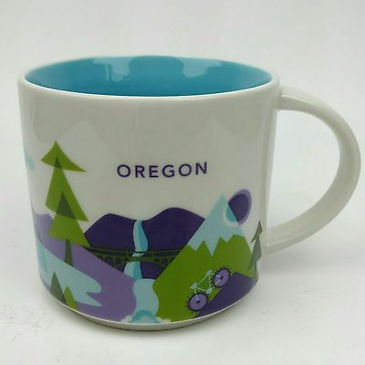 Starbucks You Are Here Collection Oregon Tea Coffee Mug YAH Cup Excellent
