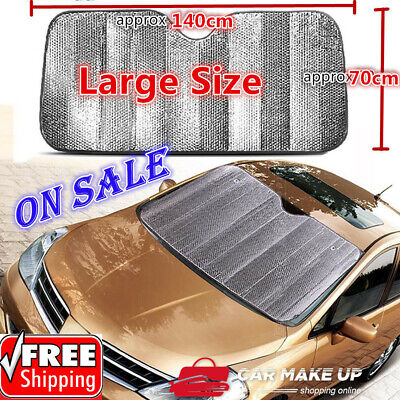 Car Windscreen Sun Shade Heat Reflective Windshield Visor Front Window UV Block1