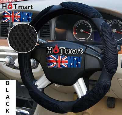 Black breathable universal mesh ice silk fibre auto car steering wheel cover
