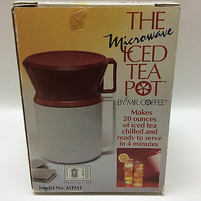 Mr Coffee Microwave Iced Tea Pot - 20 Oz Iced Tea Maker Model MTM1 - USA