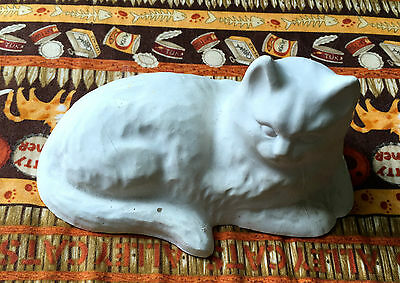 Plaster Cat Ready to Paint.