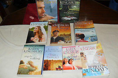 Nice Lot of Romance Novels by KAREN KINGSBURY free shipping in Canada