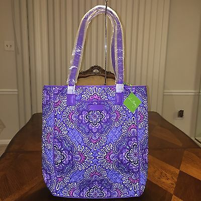 NWT Vera Bradley Crosstown Tote In Lilac Tapestry