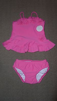 """**BNWT** Girl's Pink Two Piece """"Ruffle"""" Swimsuit – Size 00"""