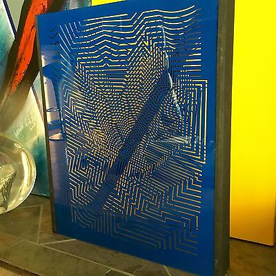 Rare Victor Vasarely Zint Plexiglas Sculpture 22/120 Screen Printed On Plexi
