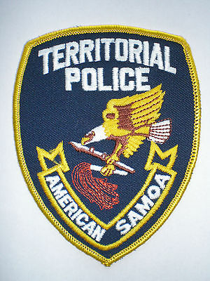 American Samoa Territorial Police Pacific Islands Police vintage patch