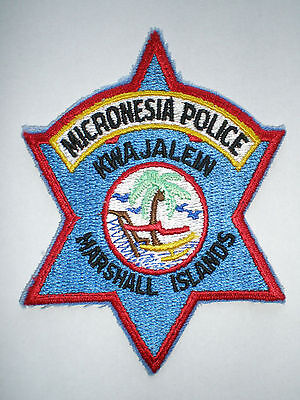 Marshall Islands Kwajalein Pacific vintage Micronesia Police patch