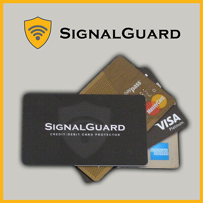 2x NEW CREDIT CARD GUARD RFID BLOCKING CARDS PAYWAVE PASSnGO ANTI THEFT