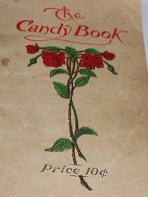 "Rare  "" The Candy Book "" of recipes. Woolverton Printing & Pub. Co. Osage, Iowa"