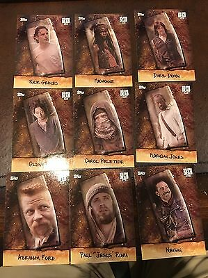 9 Card Lot 2017 Topps Walking Dead Season 6 Chop Cards Unique Negan Daryl
