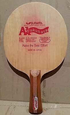 Butterfly Discontinued Black Tag Ai Fukuhara Fl Table Tennis Blade