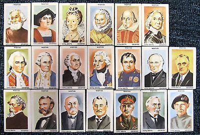 "1950s Weeties Cards:  ""FAMOUS  PEOPLE  &  PLACES"" (lot of 33)"