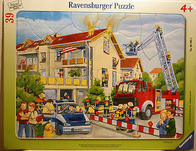 Ravensburger Tray Puzzle 39 Piece Firemen To The Rescue
