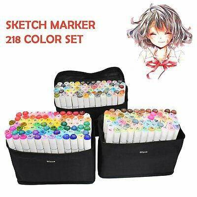 218 168 80 40 Colour Markers Pen Graphic Art Sketch Twin Tips Broad Fine Point